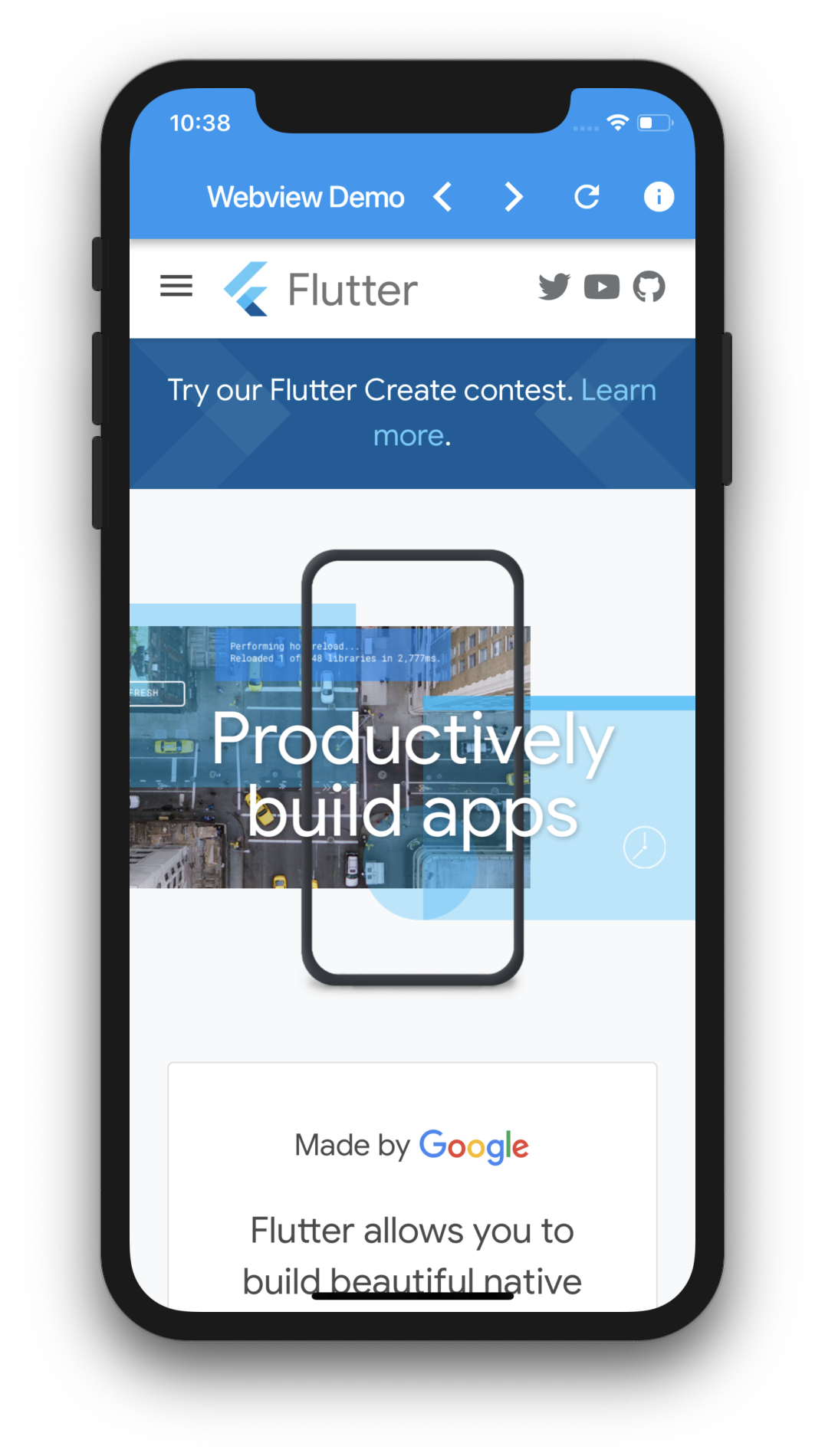 Using Webview in Flutter – Part 1 – MOBILE PROGRAMMING