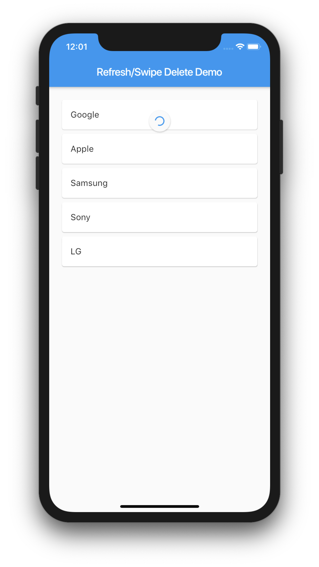 Flutter Tutorial – List Pull to Refresh and Swipe to Delete in