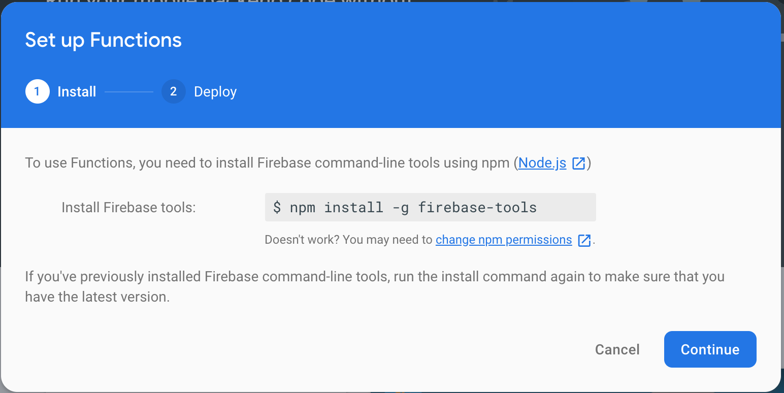 Firebase Set Up Cloud Functions