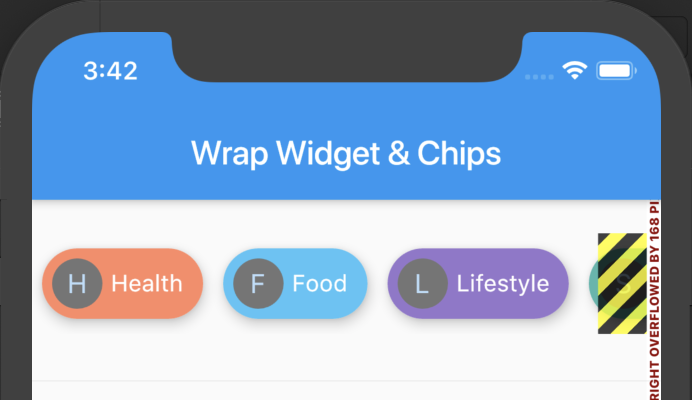 Chips inside a Row Widget