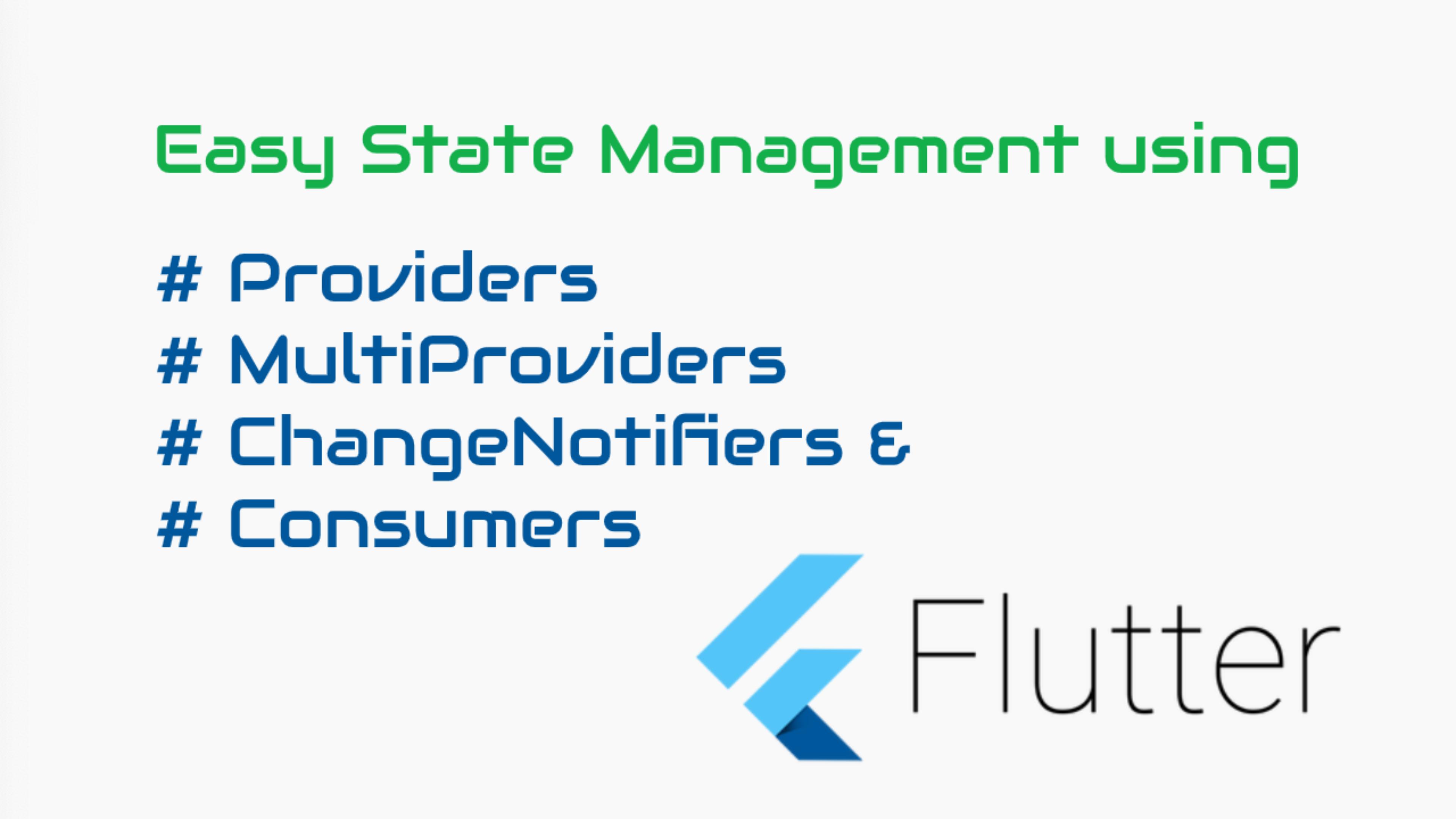 State Management in Flutter