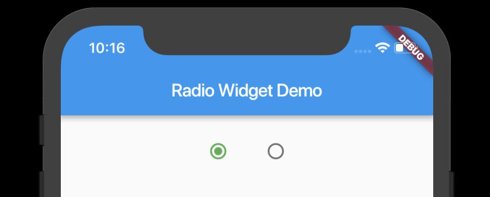 Flutter - Radio Widget