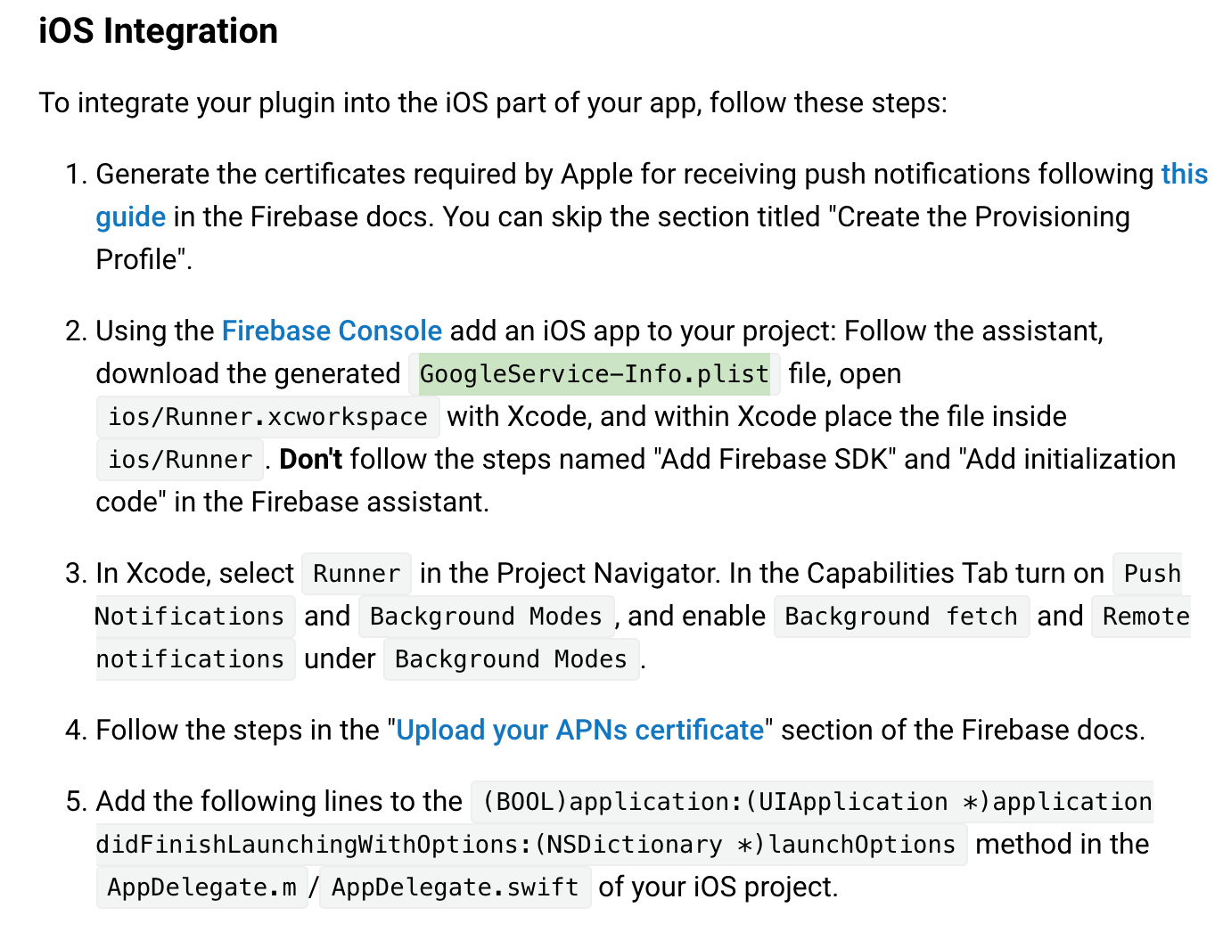 Firebase iOS Set up